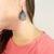 Golden Python Leather Petal Tear Drop Earrings