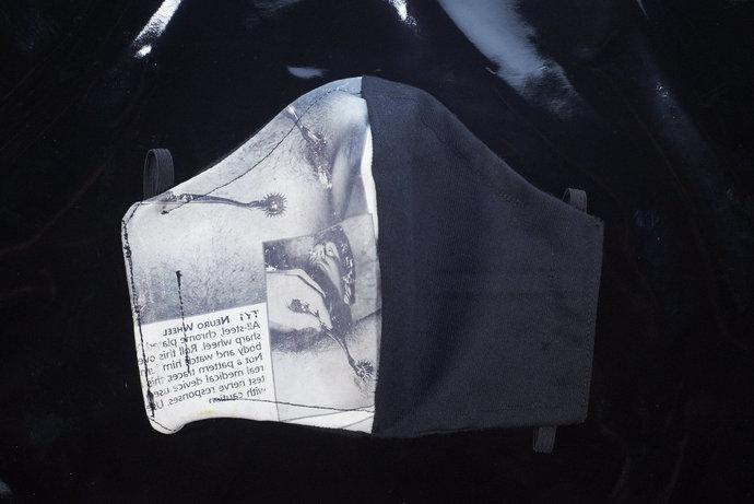 Black Wartenberg Pinwheel BDSM Fetish 2-Layer Fitted Face Mask with Filter