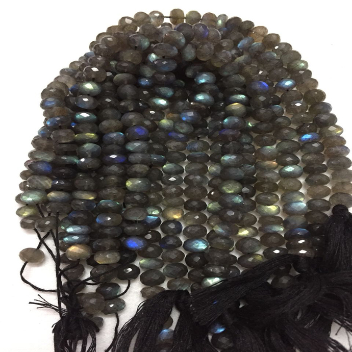 Labradorite Faceted Roundelle Beads,Labradorite Micro Faceted Beads,Labradorite