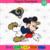 Los Angeles Rams Logo And Mickey, Sport Svg, NFL Football Svg, NFL Svg, NFL