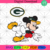 Green Bay Packers Logo And Mickey, Sport Svg, NFL Football Svg, NFL Svg, NFL
