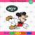 New York Jets Logo With Mickey, Sport Svg, NFL Football Svg, NFL Svg, NFL Sport,