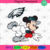 Philadelphia Eagles Logo With Mickey, Sport Svg, NFL Football Svg, NFL Svg, NFL