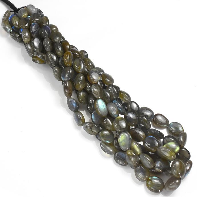 Labradorite Smooth Hand polished Tumbled Beads,Labradorite Tumbled Beads,