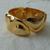 vintage gold plated clamper bracelet