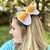 Candy Corn Bow Barrette (Halloween Costume) Crochet Pattern - PATTERN ONLY -