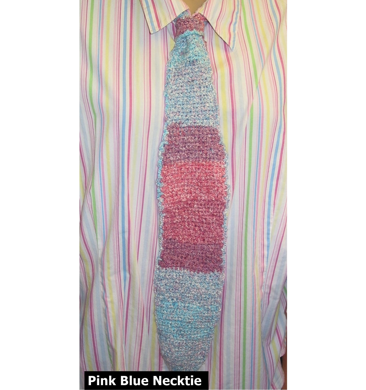 Necktie Scarf Hand Knit