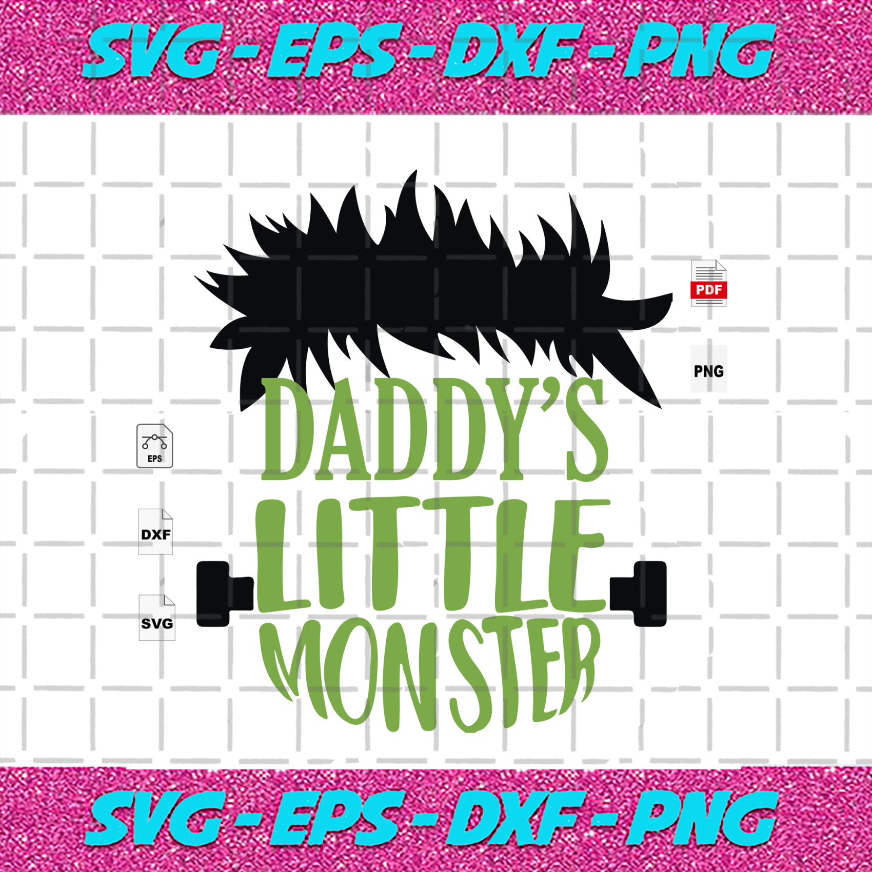 Daddy S Little Monster Halloween Svg By Alan Store On Zibbet