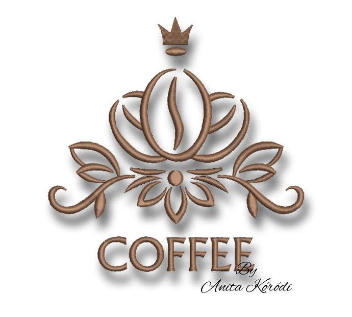 Coffee embroidery machine design Kitchen mom embroidery instant digital download