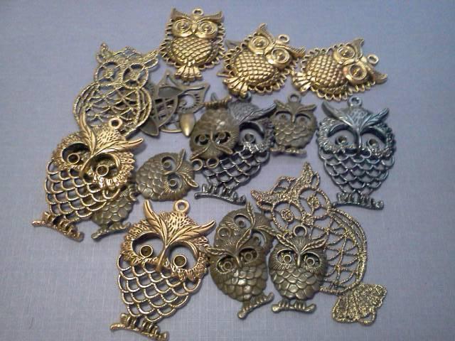 Mix Owl Charms*