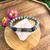 Amethyst & Onyx moon phase bracelet