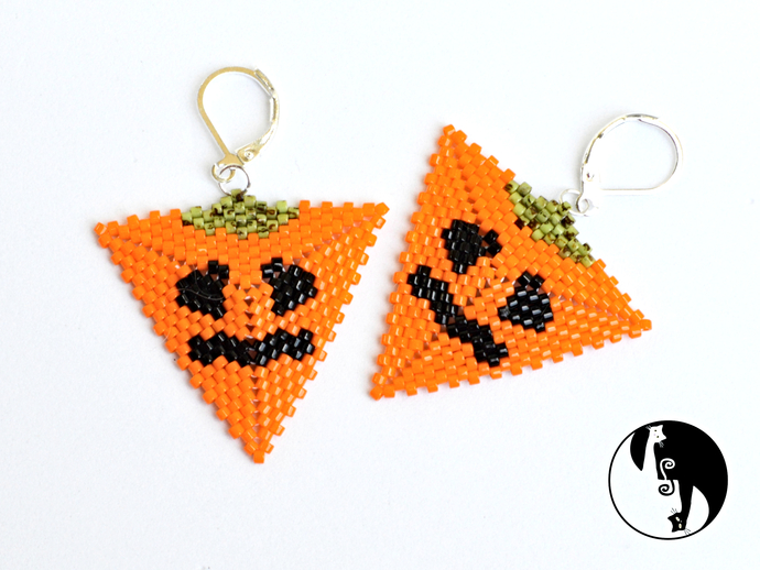 Halloween Pumpkin Triangle #2 Tutorial