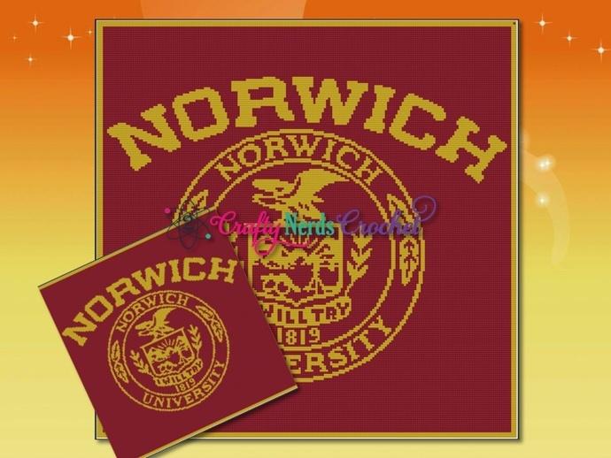 Norwich University Pattern Graph With Single Crochet Written