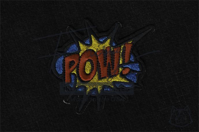POW!  Superhero Comics Retro Fun Embroidered Iron On Patch