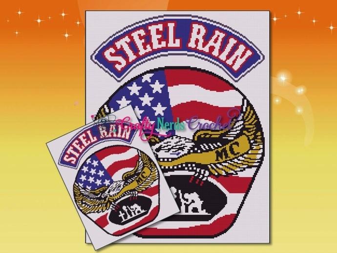 Steel Rain Motorcycle Club Pattern Graph With TSS Crochet Written