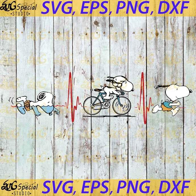 Snoopy Sport Svg, Funny Snoopy Svg, Cricut File, Svg, Snoopy Running Svg,