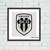 Angers logo cross stitch pattern Football team emblem