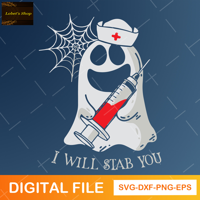 Nurse I Will Stab You Svg , Funny Nurse Halloween Svg, Nurse Svg