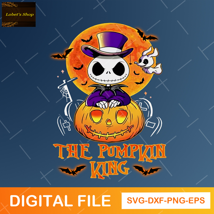 The Pumpkin King Svg , Nightmare Before Christmas Svg