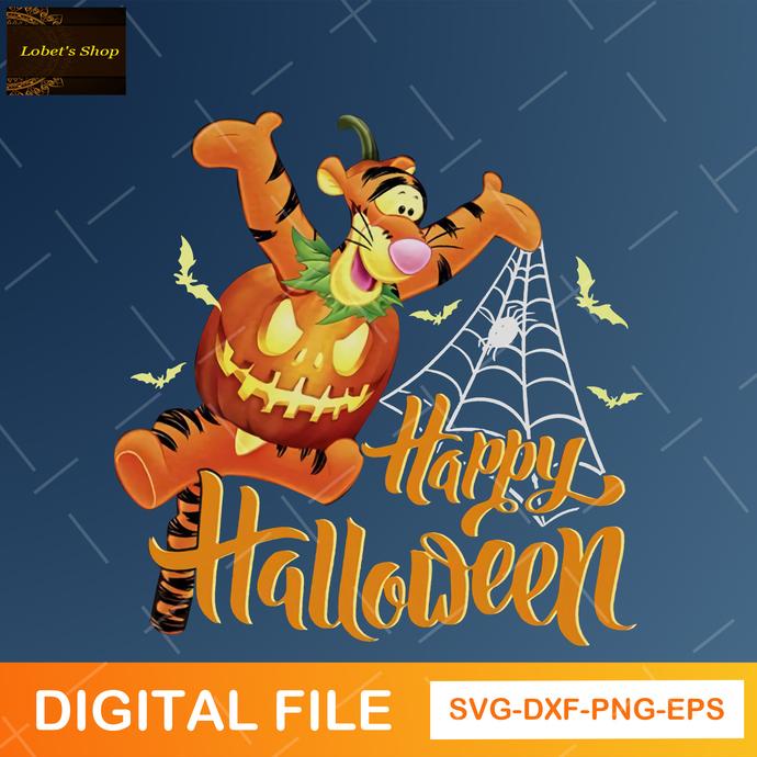 Tigger Happy Halloween SVG, Cute Tigger Halloween Svg , Disney Halloween Svg