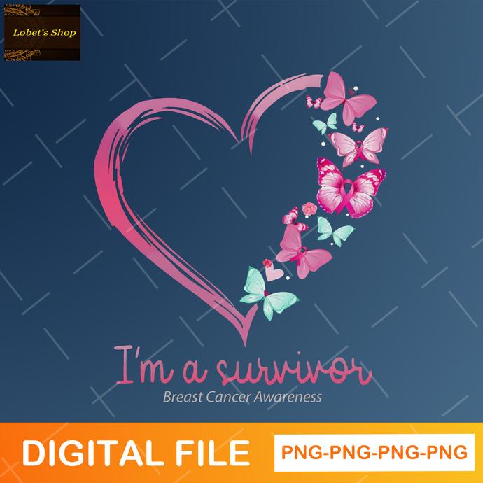 I'm A Survivor Png , Breast Cancer Awareness Png