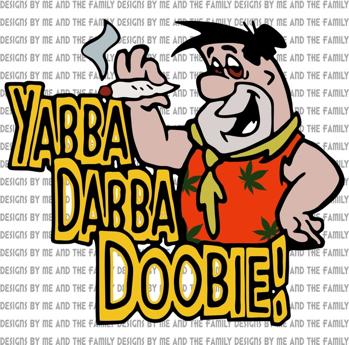 Yabba Dabba Doobie, Fred Flintstone, The Flintstone's, vintage 1980's, funny