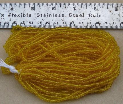 Czech Jablonex Ornela Preciosa seed beads, citrine color, 6/0, temporarily