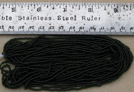 Czech Jablonex Ornela Preciosa seed beads, dark olivine, 11/0, hank