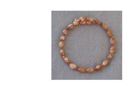 Large size brown striped Hawaiian Jobs Tears bracelet