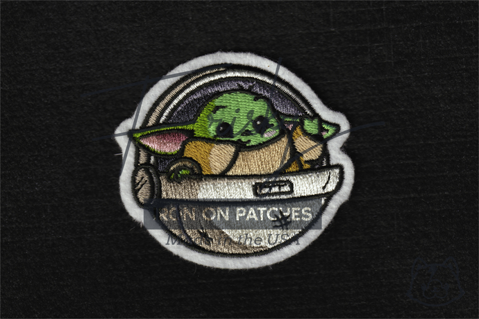 Cute Baby Yoda Embroidered Iron On Patch