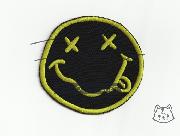 """Nirvana Smiley Face Iron On Patch 3"""""""