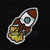 Space Rocket Ship Iron On Patch