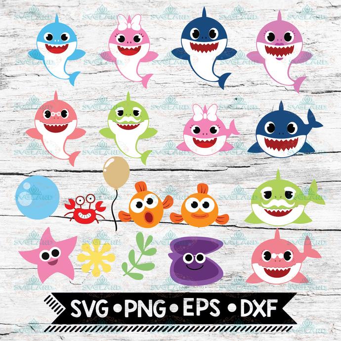 Baby Shark SVG, Shark Family SVG, Shark SVG, Baby Shark Clipart