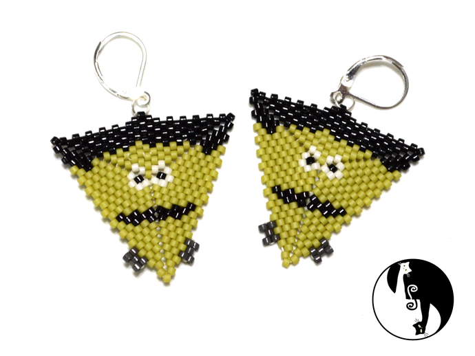 Halloween Frankenstein Triangle Tutorial
