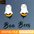 Boo Bees digital file svg, dxf, eps, png, trending, vector, logo