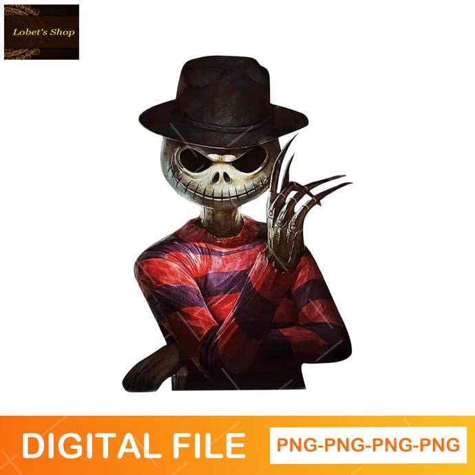 Freddy Krueger Jack Skellington Png , Horror Png , Freddy Krueger Png