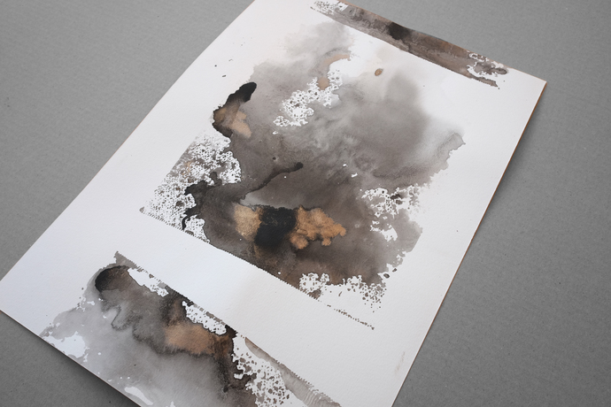 Original painting, original watercolor , painting on paper, neutral ink original