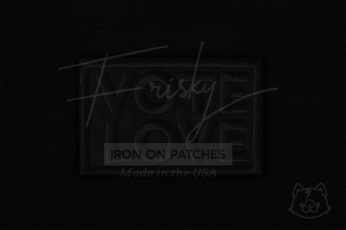 VOTE LOVE  Iron On Patch