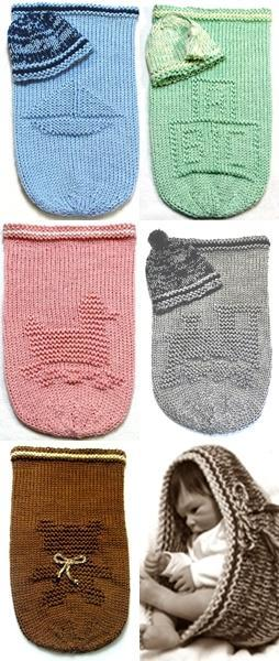 Knitting Pattern Baby Cocoon 4 For 2199 By Ezcareknits On Zibbet