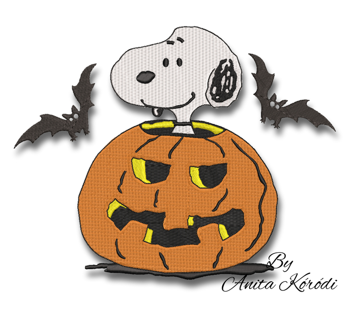Snoopy pumpkin embroidery design pes digital instant download pattern in the
