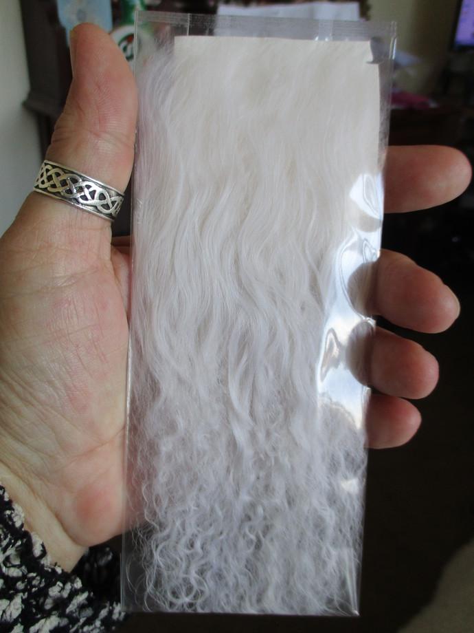 1 x Natural Tibetan Hair Pelt - For Fairy Dolls