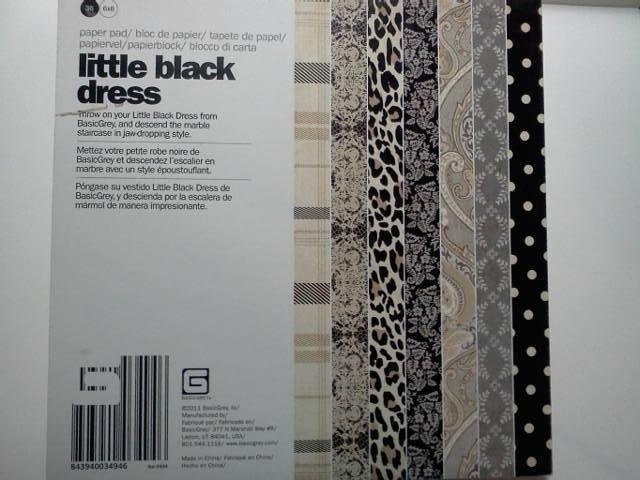 Basic Grey 6x6 paper Little Black Dress*