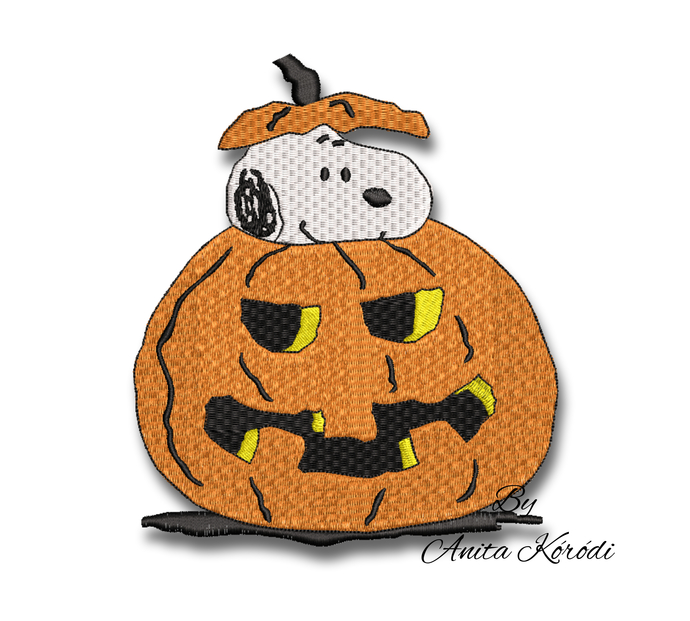 Snoopy Embroidery Machine Designs Pumpkin Halloween pes file digital instant