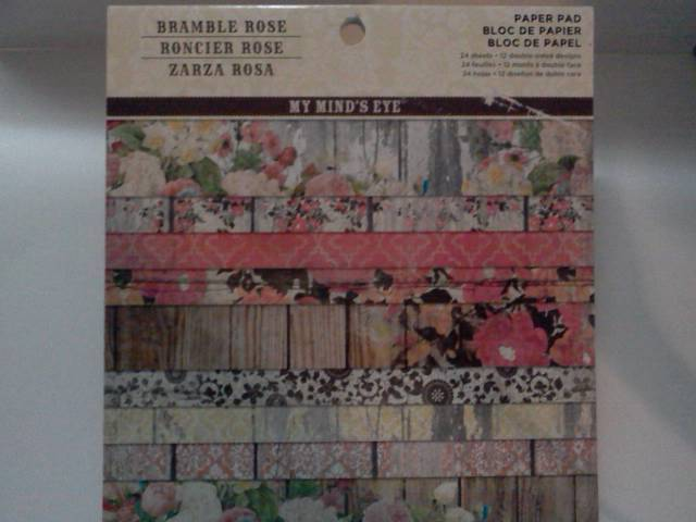 My Minds Eye 6x6 paper Bramble Rose*