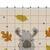 #520 Llama Modern Cross Stitch Pattern, cute funny animal. Hello, fall, leaf