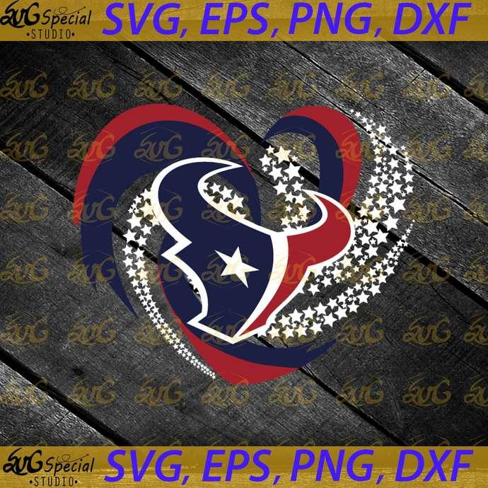 Houston Texas Svg, Love Svg, Cricut File, Clipart, NFL Svg, Football Svg, Love