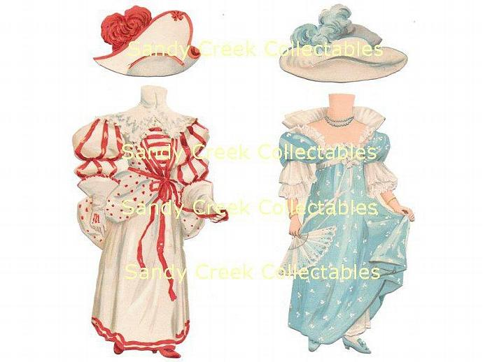 Victorian Paper Doll Set Sweet Abigail Digital Download Raphael Tuck