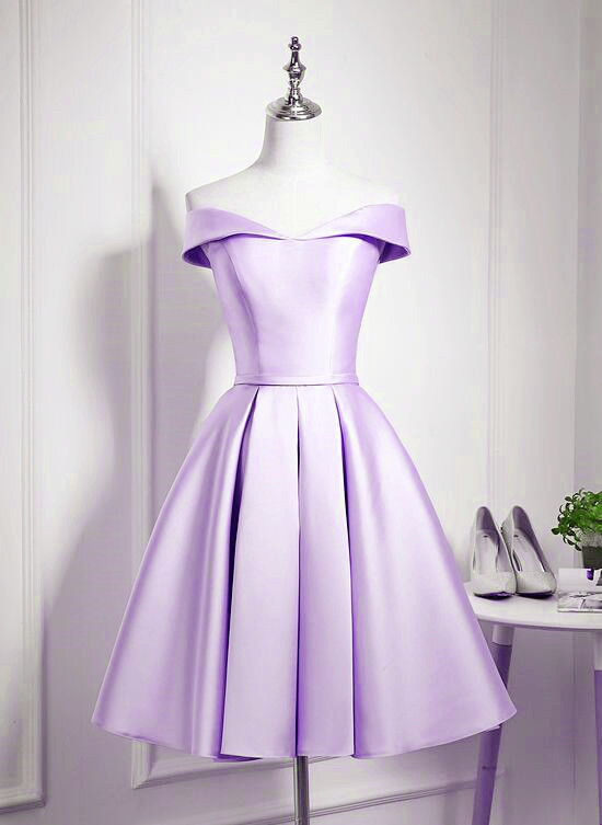 Lovely Lavender Sweetheart Homecoming Dress, Short Prom Dress Graduation Party