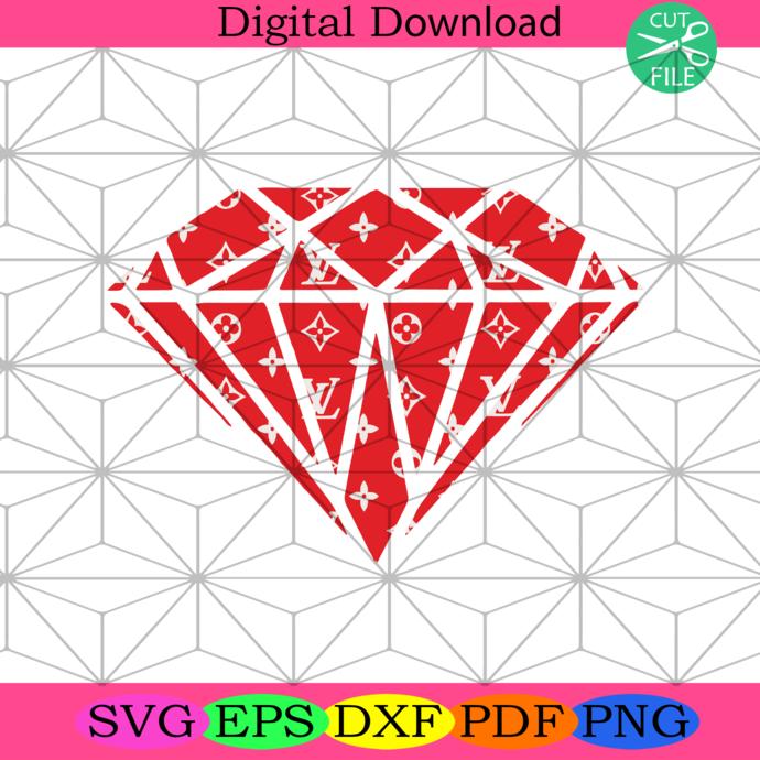 Lv Red Diamond Logo Trending Svg Lv Diamond By Saumiu Shop On Zibbet