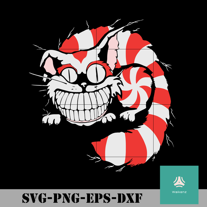 Cheshire Cat svg, christmas svg, png, dxf, eps digital file CRMAS0157